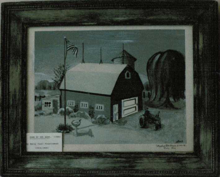Lee Franclemont, 'Down by the Barn', 1960s, oil on board. Photo credit John FN Franclemont.