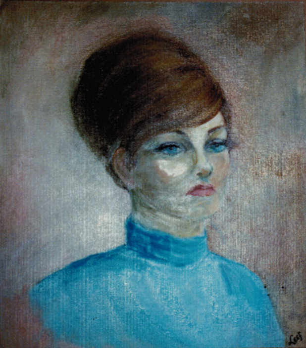 Lee Franclemont, portrait of Aunt Betty, 1960s, oil on board. Photo credit John FN Franclemont.