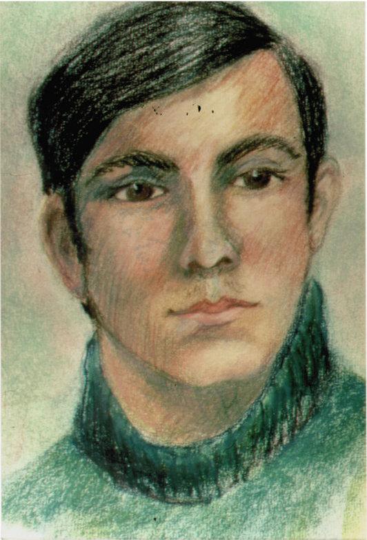 Lee Franclemont, portrait of Donny Stringham, 1963, pastel/pencil on paper. Photo credit John FN Franclemont.
