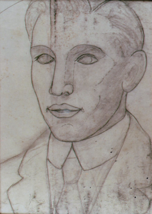 Lee Franclemont, portrait study (Henry Pfaff), 1940s, pencil on paper. Photo credit John FN Franclemont.