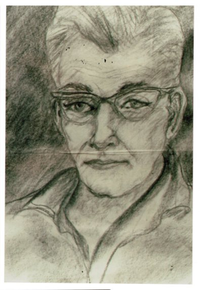 Lee Franclemont, portrait study (Rich), 1970s, charcoal/pencil on paper. Photo credit John FN Franclemont. Private collection.