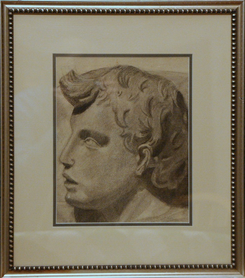 Lee Franclemont, 'Alexander the Great', 1929, pencil on paper. Photo credit Kelise Franclemont.