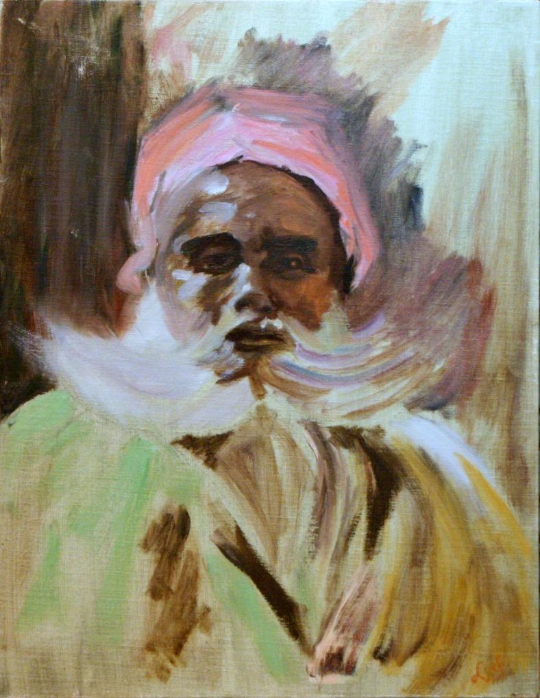 Lee Franclemont, 'Berber Chieftain', 1983, oil on linen. Photo credit Kelise Franclemont.