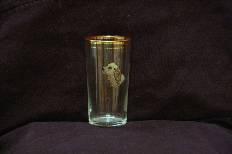 Lee Franclemont, hand-painted glass tumblers, 1960s. Photo credit Kelise Franclemont.