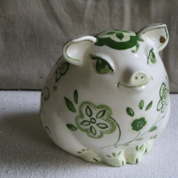 Lee Franclemont, 'Some pig', 1982, hand-painted ceramic. Photo credit Kelise Franclemont. Private collection.