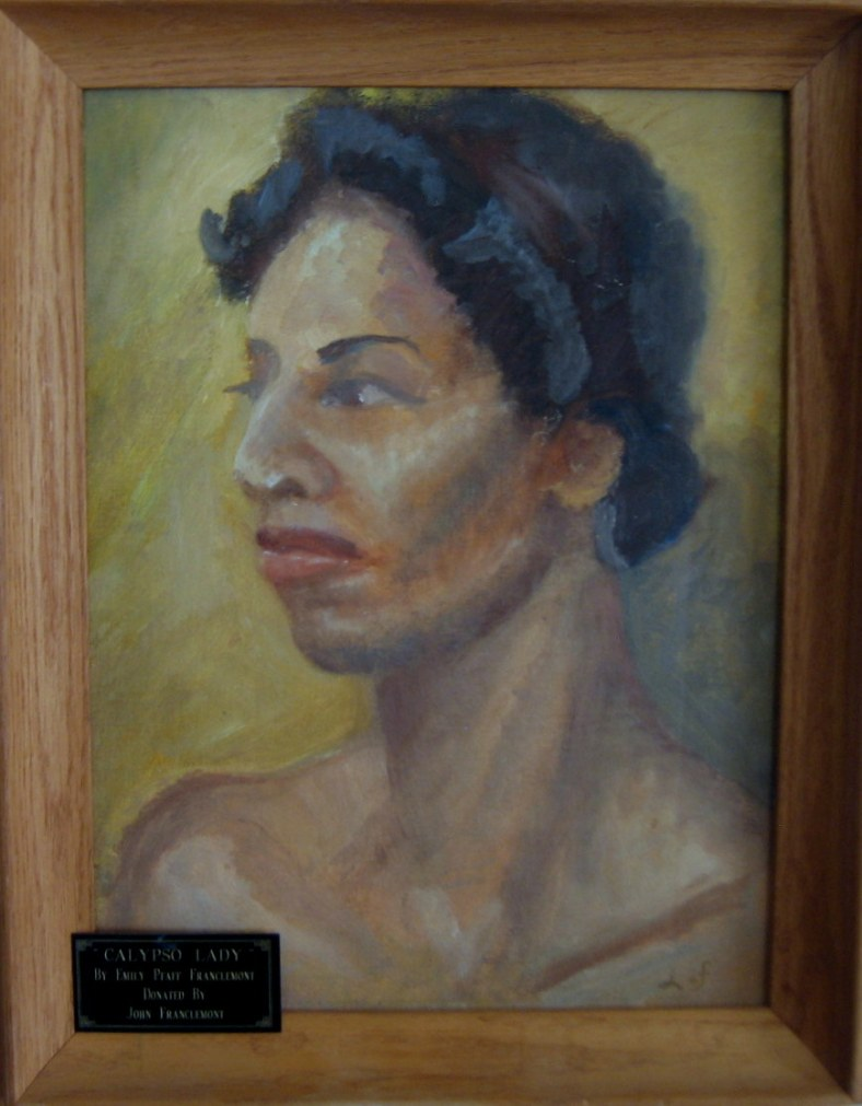 Lee Franclemont, 'Calypso Lady', 1941, oil on board. Image courtesy Genesee-Orleans Regional Arts Council, Batavia, NY.