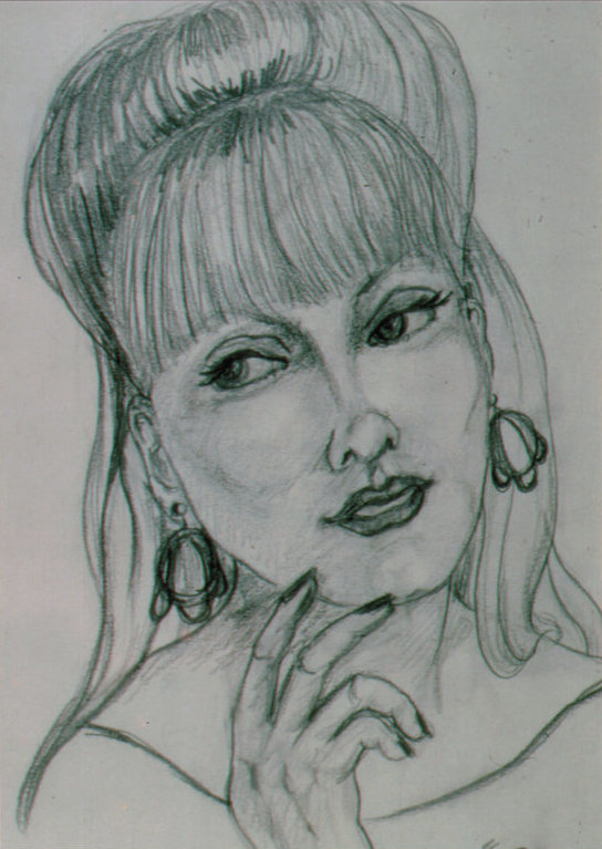 Lee Franclemont, 'Lisette', 1960-70s, pencil on paper. Photo credit John FN Franclemont.