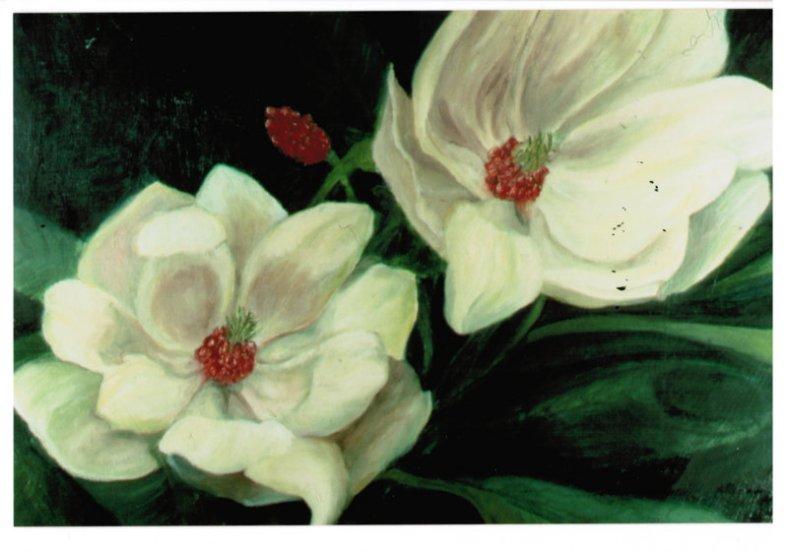 Lee Franclemont, 'Magnolias' (detail), 1960s, oil on board. Photo credit John FN Franclemont.