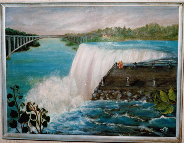 Lee Franclemont, 'Niagara Falls (Honeymoon)', 1960s, oil on board. Photo credit John Franclemont.